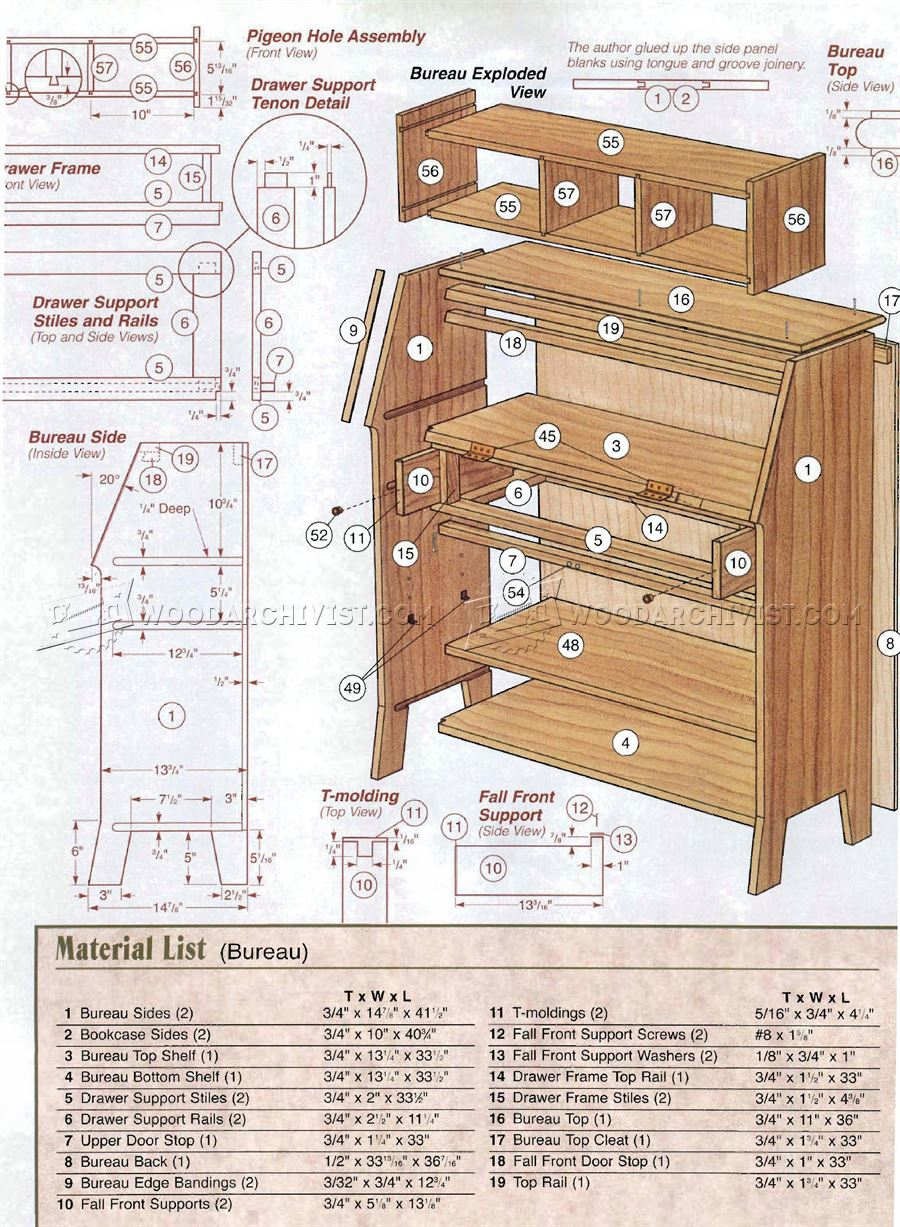 Arts and crafts bookcase plans woodarchivist for Arts and crafts furniture plans